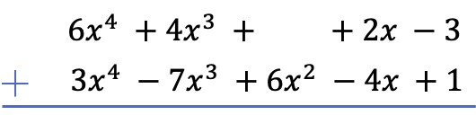 addition of polynomials examples