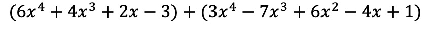 how do you add two polynomials