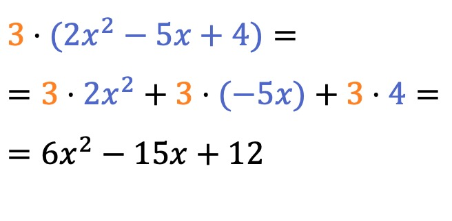 multiplying a polynomial by a number