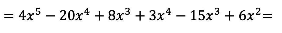 multiplying polynomials step by step